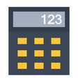 calculator flat icon business and mathematics vector image
