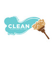 cleaning services logotype with water and brush vector image