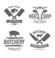 emblems set butchery vector image