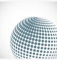 halftone sphere design element vector image