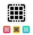 Multi Core CPU icon vector image