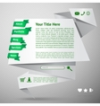 Origami website template vector image