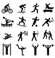 sports fitness activity and exercise icons vector image