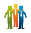 teamwork people isolated icon vector image