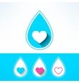 water drop made in modern flat design vector image