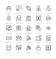 web design and development icons 16 vector image