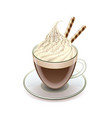 Coffee with icecream Glace isolated vector image