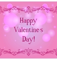 Happy valentine day card with decorative border vector image