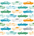 seamless pattern with image of retro cars vector image