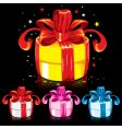 colorful gifts vector image vector image