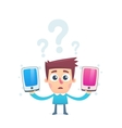 How to choose a convenient smartphone vector image