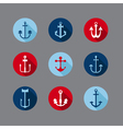 Set of Anchor Nautical Icons vector image