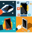 Smartphone with app icons vector image vector image