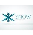 Christmas snowflake company logo design vector image vector image