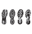 Footprint sport shoes 3 vector image