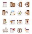 database and table icons vector image