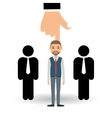 Employment design Human resources icon Isolated vector image