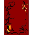 alchemical salamander symbol of fire element vector image