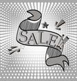 an inscription of a sale on a pop art background vector image