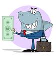 Business Shark Holding Cash vector image