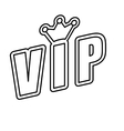 Crown icon Vip and luxury design graphic vector image