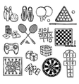 Game sketch icons vector image