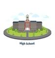 High school or university building Educational vector image
