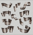 old 3d movie film strip foto slide isolated on vector image