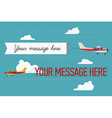 Plane Ad Icon Set vector image