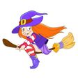 pretty young witch vector image