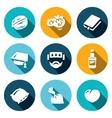 Set of Brain Development Icons Walnut vector image