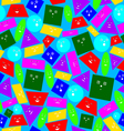 Texture of geometric shapes vector image