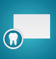 White healthy teeth vector image
