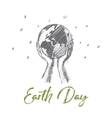 Hand drawn Earth day concept with lettering vector image