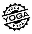 Yoga rubber stamp vector image