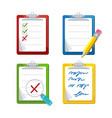 checklist dashboards survey icon set vector image vector image