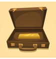 Suitcase with gold bullion vector image