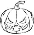 Halloween cartoon pumpkin vector image vector image