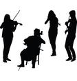 violin and cello vector image
