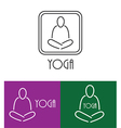 yoga logo outline vector image vector image