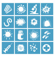 bacteria virus and micro organisms vector image
