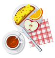 breakfast on table vector image