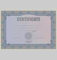 Certificate violet vector image