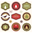 collection of christmas and new years stickers vector image