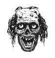design element for halloween hand drawn vector image