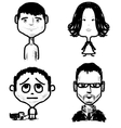 Different age people set vector image