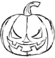 Halloween cartoon pumpkin vector image