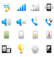 Icons set for mobile phone vector image