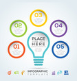 light bulb infographic diagram presentation steps vector image