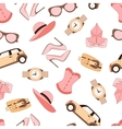 pattern of fashion objets and trendy vector image